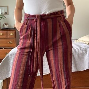 Forever 21 Multi Colored Striped Pants (SIZE M)